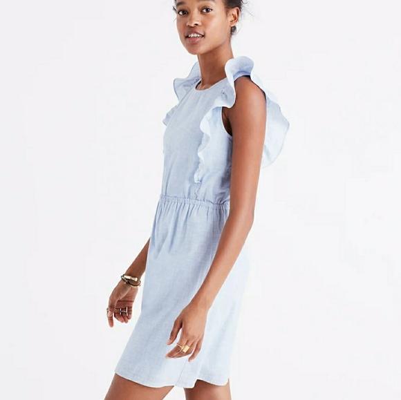 Madewell Bellflower Ruffle Sleeveless Dress